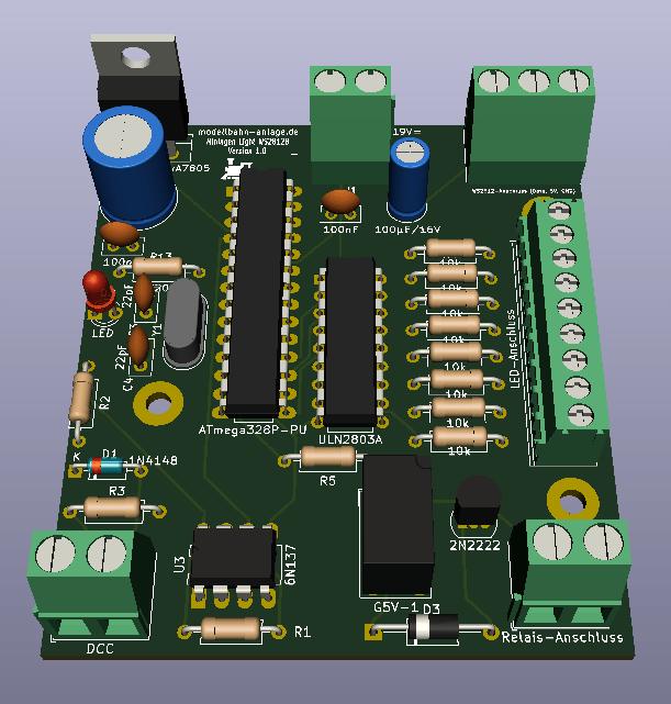 Beleuchtung Decoder WS2812B