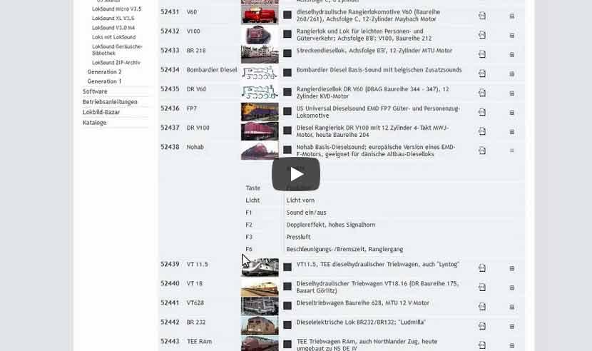 Modellbahn TrainController Tutorial: ESU Loksound Lokprogrammer mit unterschiedlichen Sounds