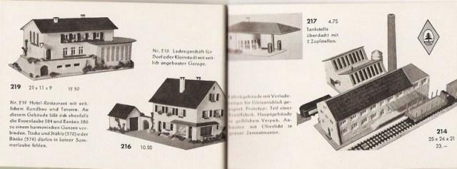 Ladengeschäft 216, Faller Katalog 1954