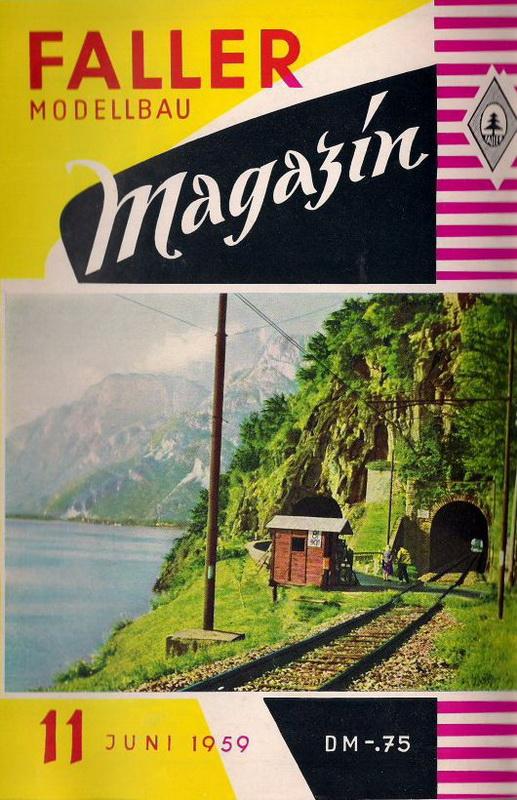 Deckblatt Faller Magazin 11 Juni 1959
