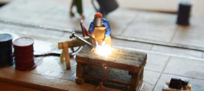 Delavnica za popravilo lokomotiv za modulno H0e maketo – 7. del
