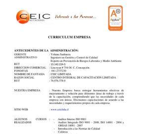curriculum de empresa