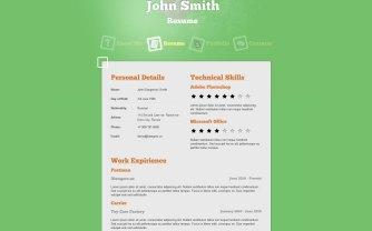 Plantilla de curriculumo online con Jumpbox