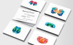 Tarjeta de visita creativa psicólogo
