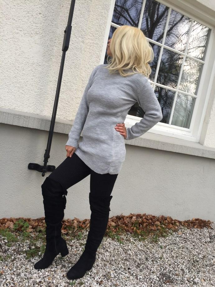 jumper dress, femme luxe finery