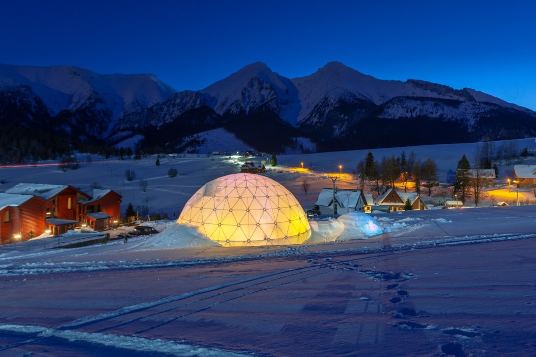 glass igloo hotels