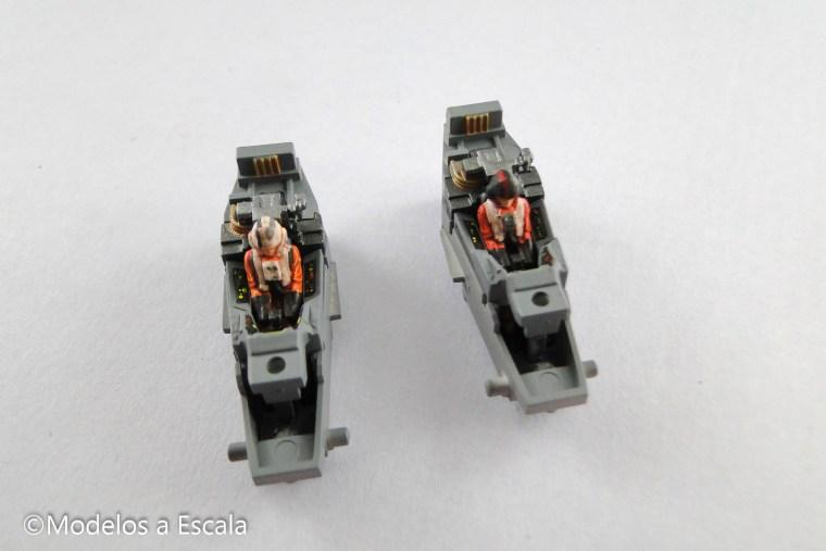 Pilotos de Star Wars resistance x-wing cabina