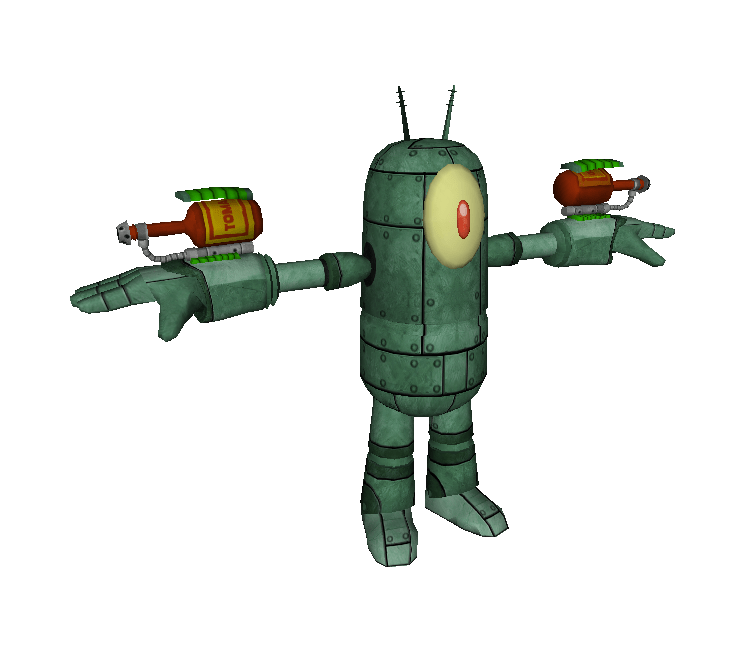 Xbox 360 SpongeBob HeroPants Plankton Robot The
