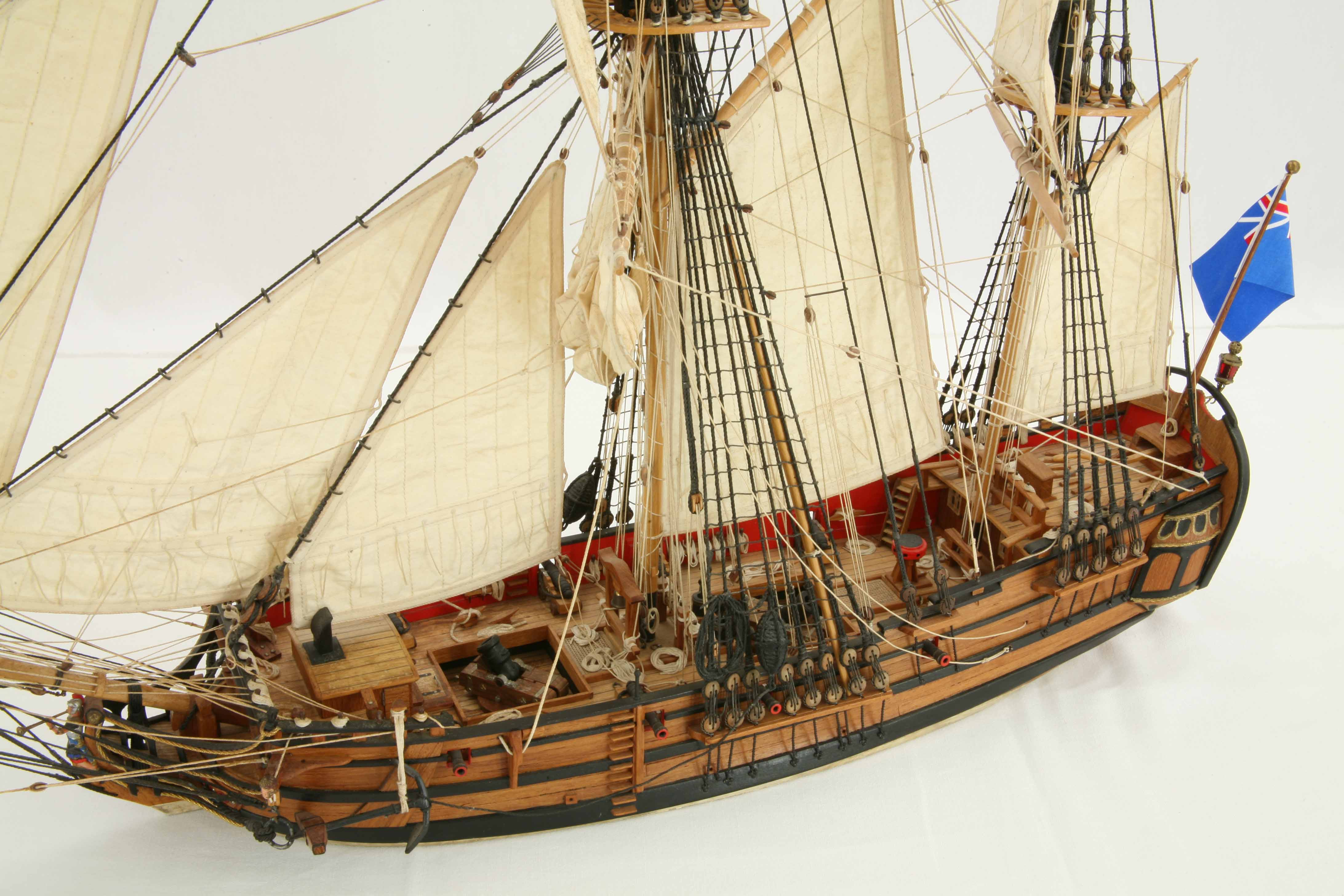 Photos Ship Model English Bomb Ketch Glory Of 1760 Details