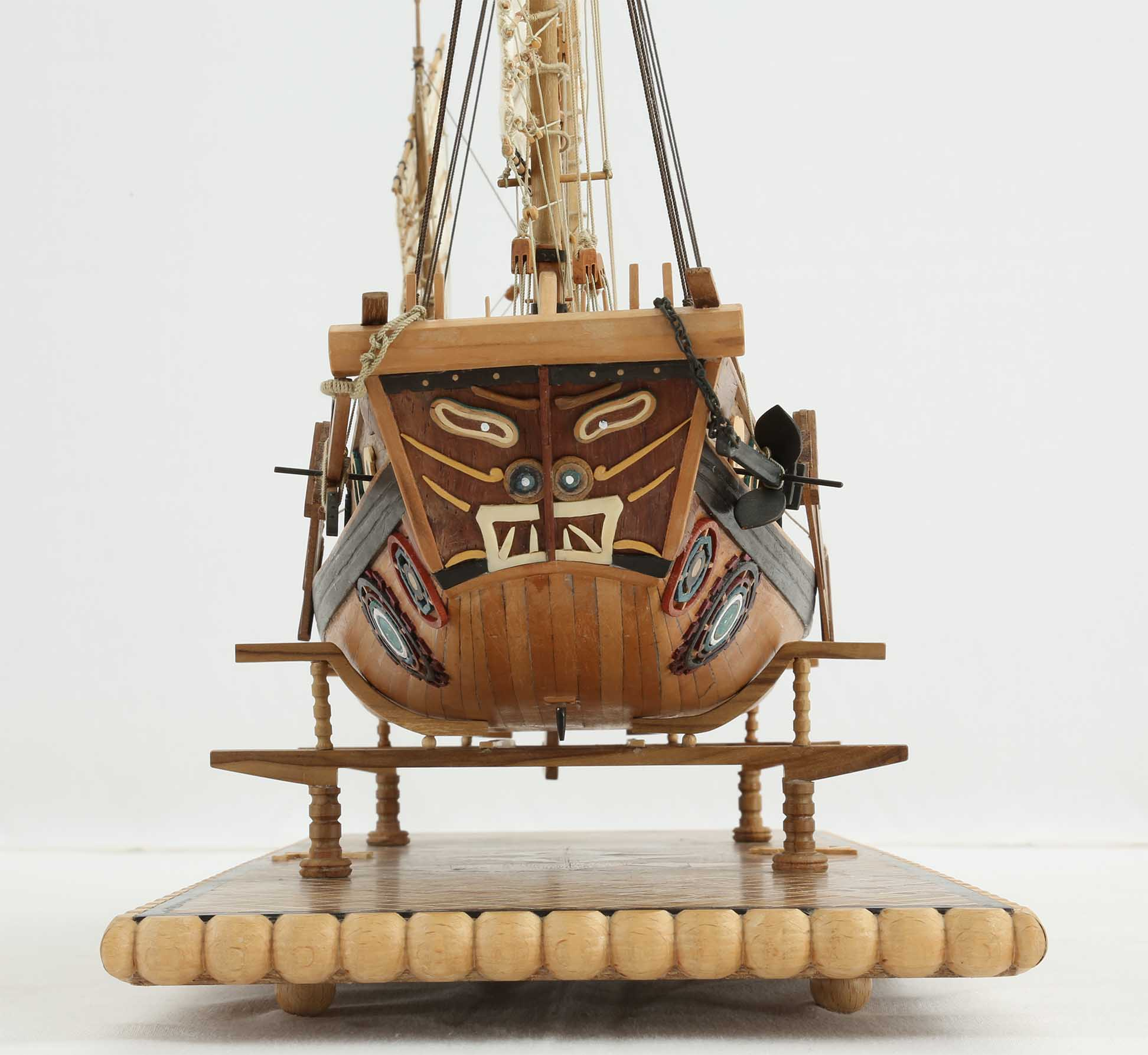 Photos Ship Model Chinese River Junk Of 19th Century Details