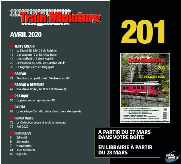 Sommaire Train Miniature Magazine 201 - april 2020