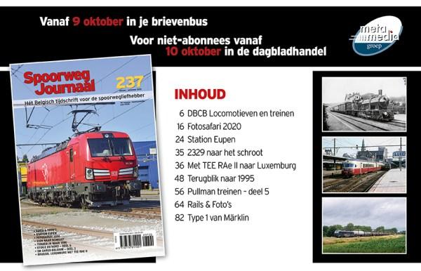 inhoud SJ 237 Spoorwegjournaal editie oktober november 2020