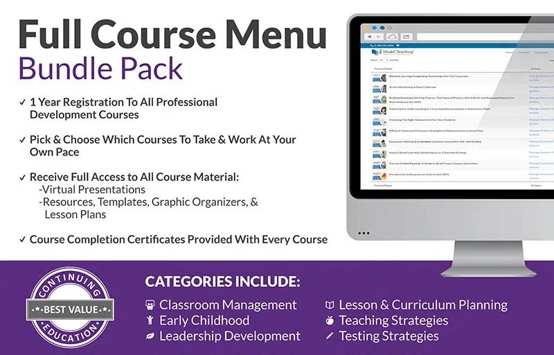 Full Course Menu Bundle Pack