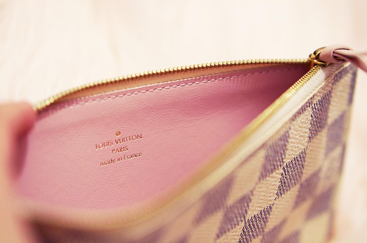 d9927c8c1d6c Louis Vuitton Felicie Pouch Damier Azur Rose Ballerine – SOLD. April 23
