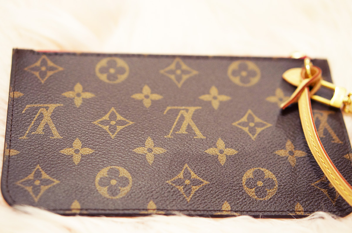 350c3c13f01f  325.00. Louis Vuitton small PM pouch pochette in monogram with Pivoine ...