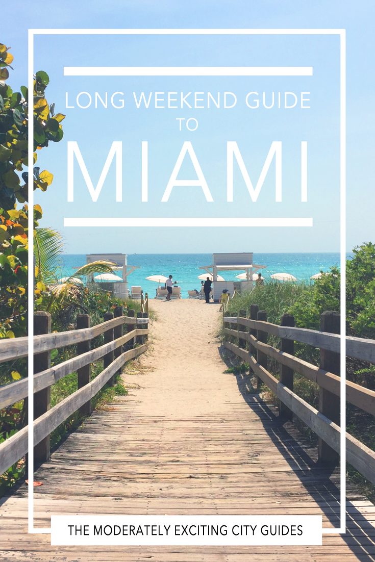 The moderately exciting city guide to Miami Beach.