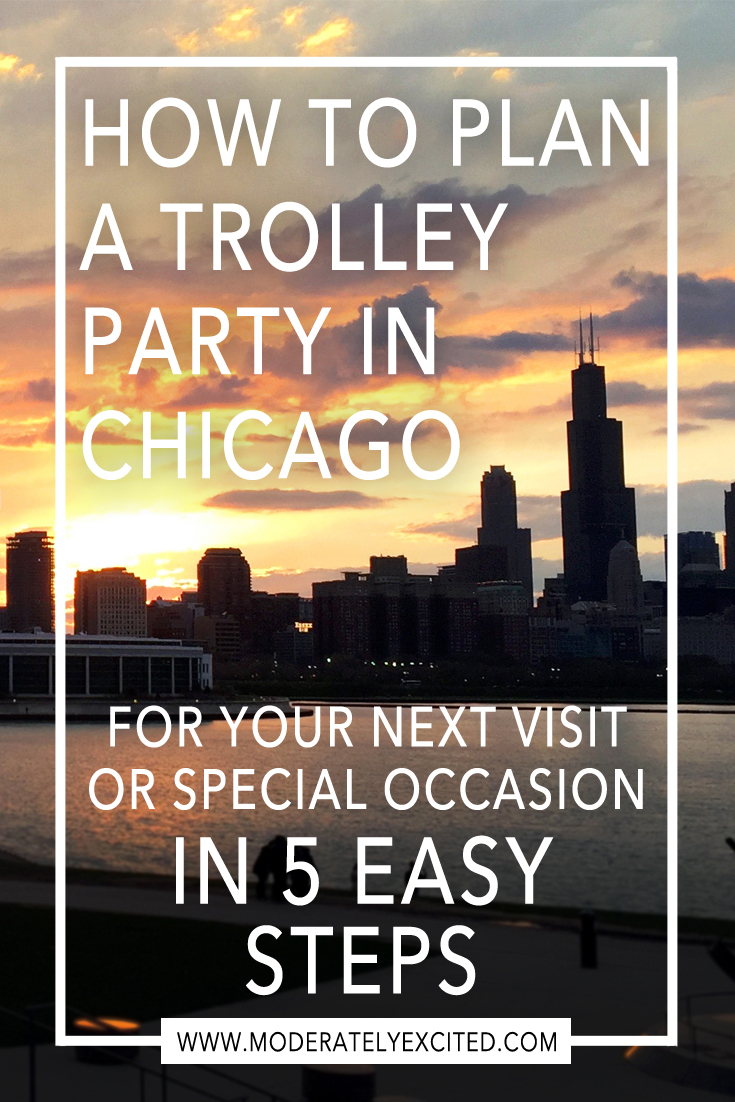 How to plan a trolley party in Chicago during your next visit or special occasion - plus a printable planning worksheet!
