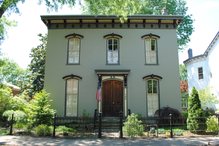 Old historic houses Madison Indiana Midwest