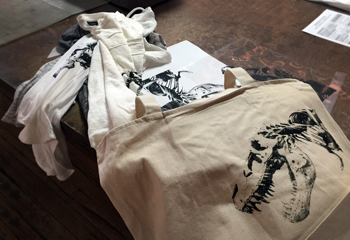 Finished DIY screen printed goods
