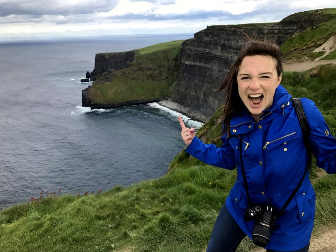 Jazzed at the Cliffs of Moher - perfect photo ops!