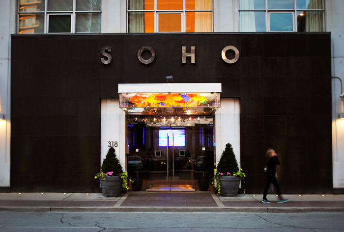 Soho Metropolitan Hotel in the Entertainment District of Toronto