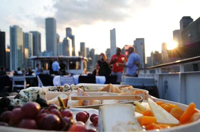 Wine and cheese sunset cruises on the Chicago River and Lake Michigan with Wendella Boat Tours