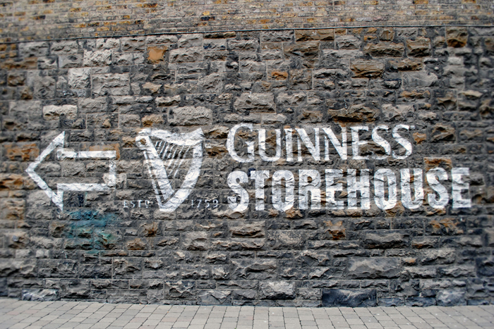 This way to the Guinness Storehouse in Dublin