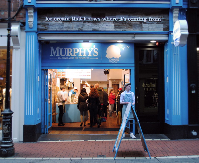 Murphy's Ice Cream in downtown Dublin - best ice cream in Ireland!
