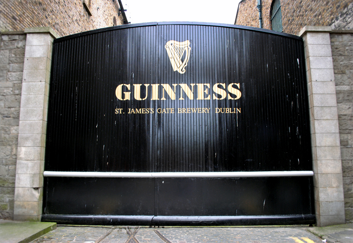 St. James Gate at the Guinness Storehouse in Dublin