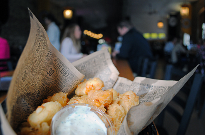 Cheese curds at the Lakefront Brewery in Milwaukee, Wisconsin