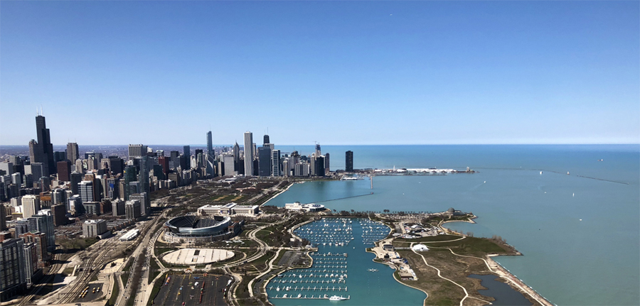 Epic views from the Chicago Helicopter Experience