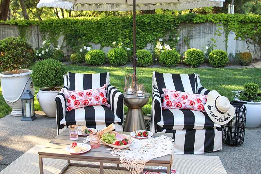 Patio Decorating Ideas: 7 Simple Summer Updates - Modern Glam on Patio Top Ideas id=25859