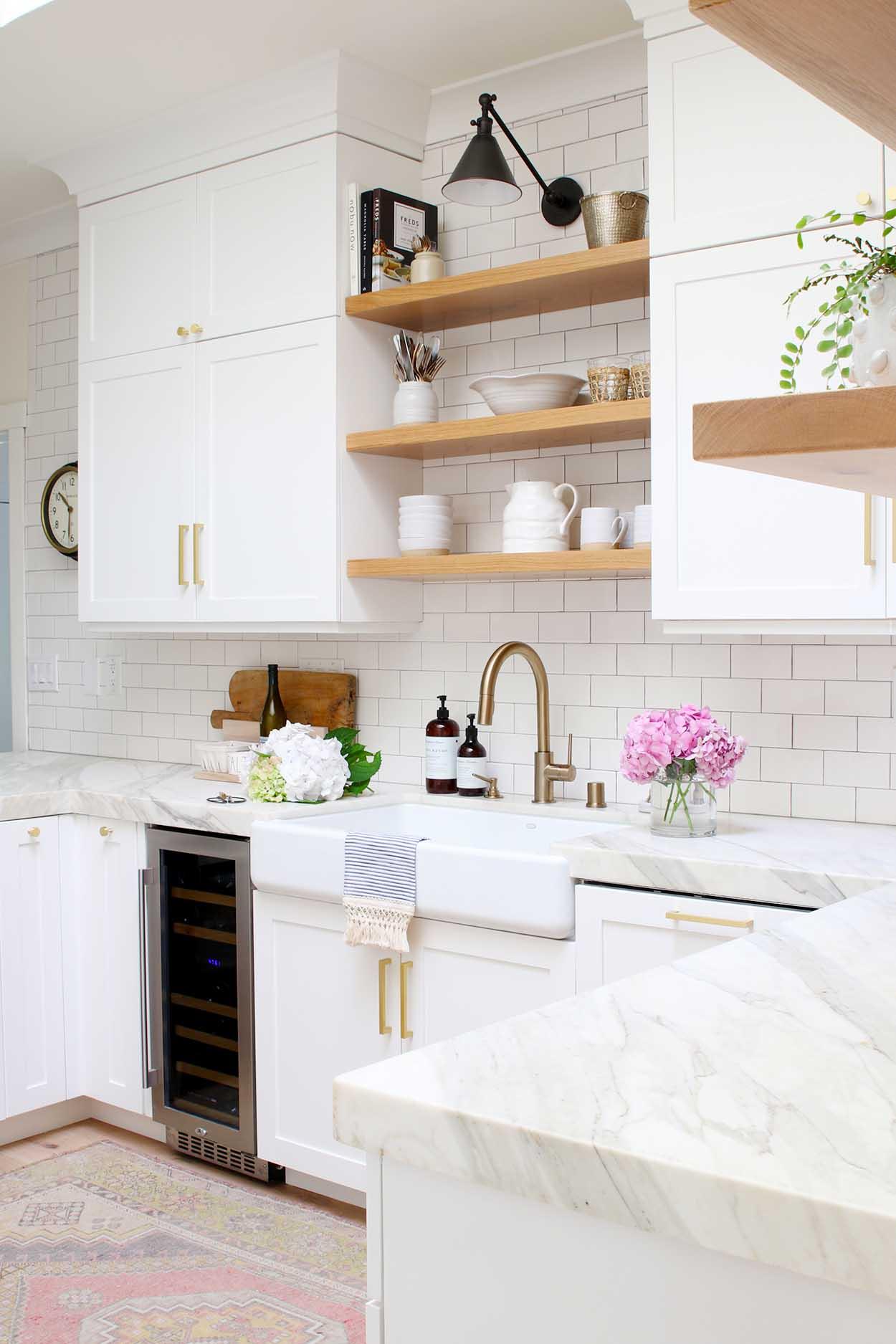 Modern Farmhouse Kitchen Reveal - Modern Glam on Kitchen Redesign Ideas  id=21337