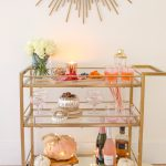 Styling A Bar Cart For Fall And 3 Autumn Cocktail Recipes Modern Glam