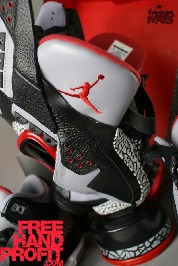 BlackCement3s073 Air Jordan 3 Black / Cement Gas Mask by Freehand Profit