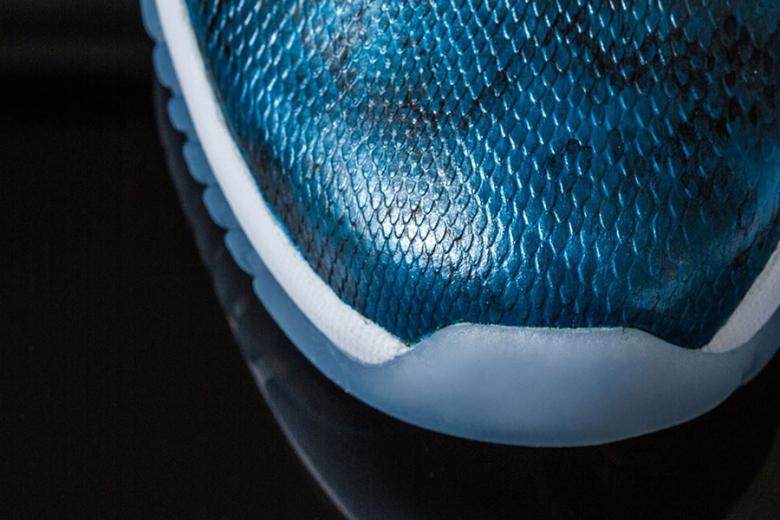 hot sale online 7741c 8b3a8 air-jordan-11-retro-low-blue-snake-custom-