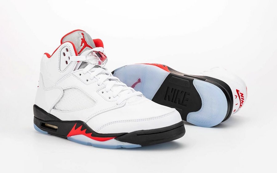 "Air Jordan 5 ""Fire Red"" Arrives Soon in Full Family Sizing"