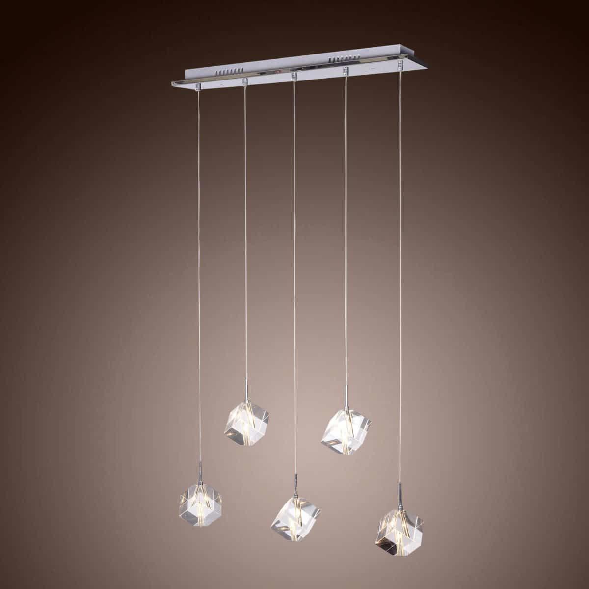 Modern Chrome Pendant Light
