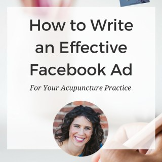 How to create effective Facebook Ads that actually bring more patients to your practice. Interview with Katie of AcuProsper. www.ModernAcu.com