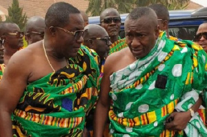 Dr. Osei Kwame Despite with his brother Dr. Ofori Sarpong at the wedding