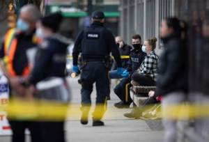 Woman dead, six hospitalized after 'multiple' people stabbed at North Vancouver library