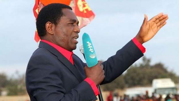 Hakainde Hichilema is standing in upcoming elections