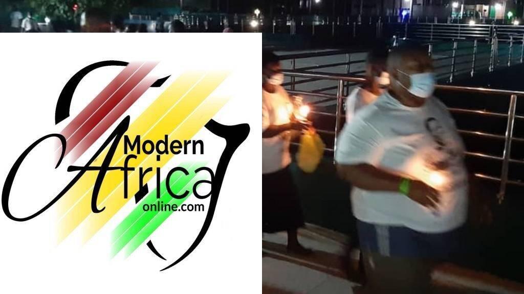 Fire breaks out at Nigerian preacher's memorial