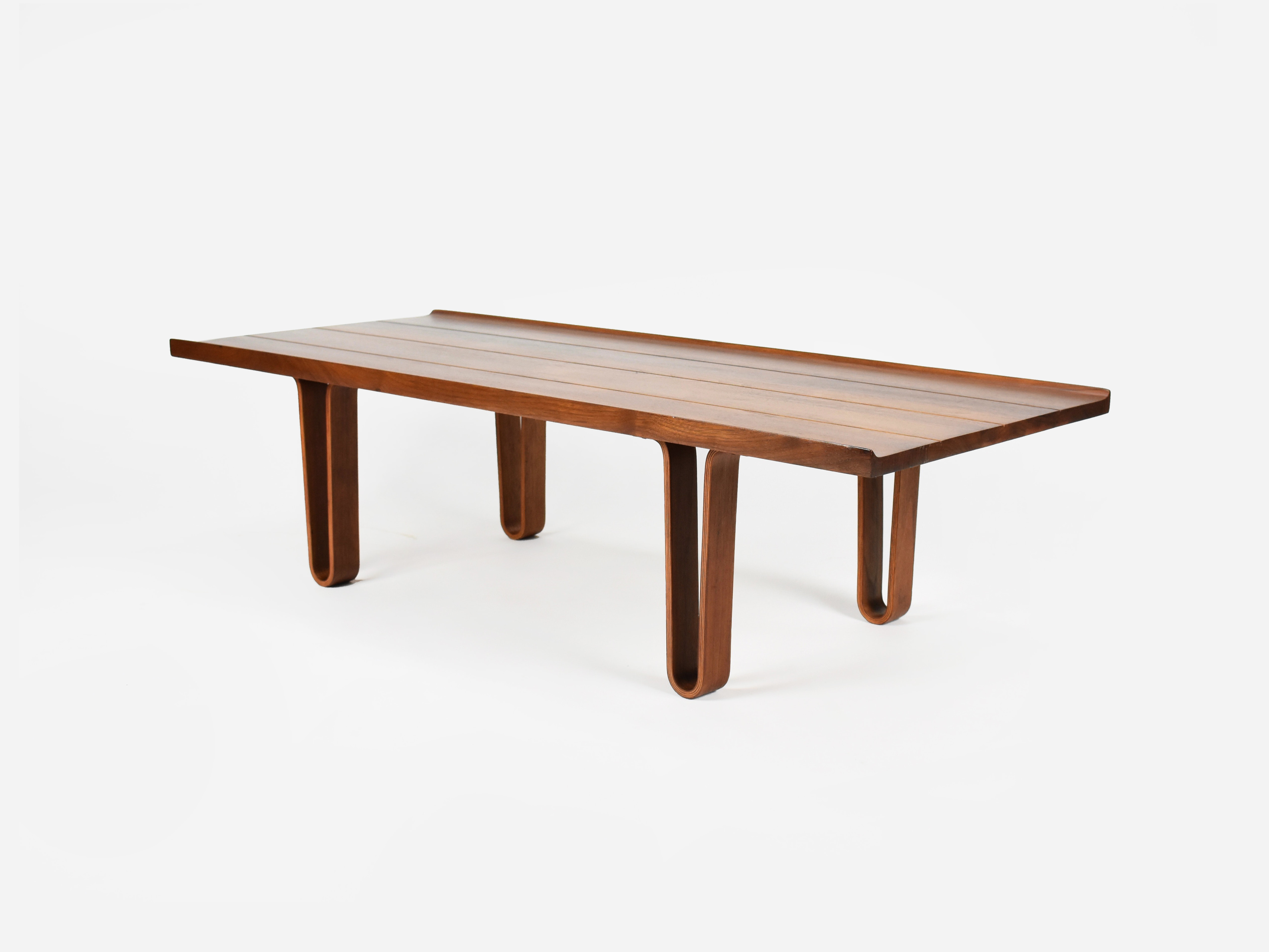 Mid Century Modern Coffee Table Bench By Edward Wormley For