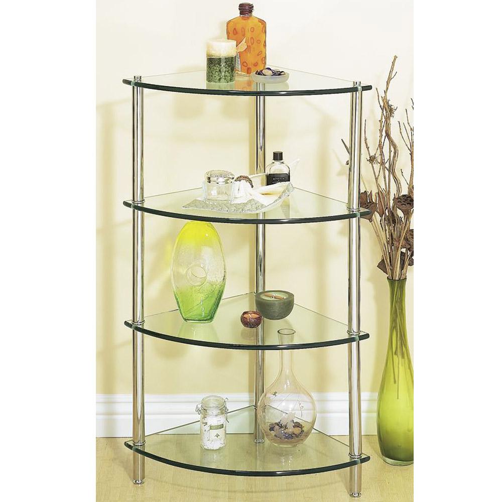 Corner Glass Bathroom Shelf Unit | Free Shipping - Modern ... on Bathroom Corner Shelf  id=97793
