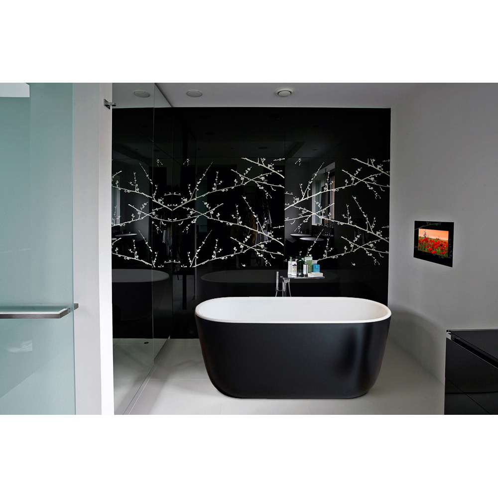 Aquatica Lullaby Blck Wht Freestanding Solid Surface