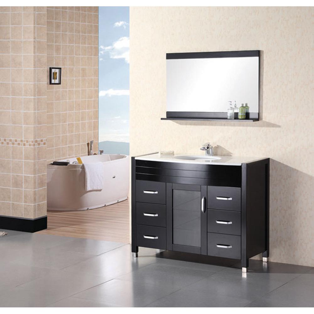 Design Element Waterfall 48 Bathroom Vanity With White