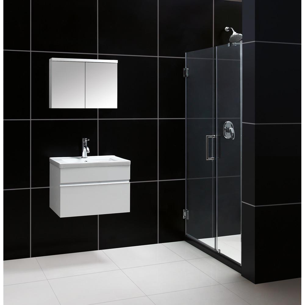 "Bath Authority DreamLine 24"" Wall-Mounted Modern Bathroom ..."