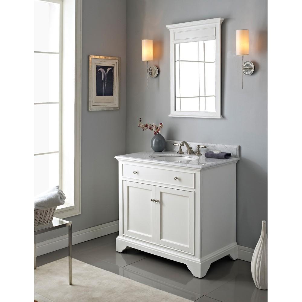 "Fairmont Designs Framingham 36"" Vanity - Polar White ... on Small:e_D8Ihxdoce= Restroom Ideas  id=20496"