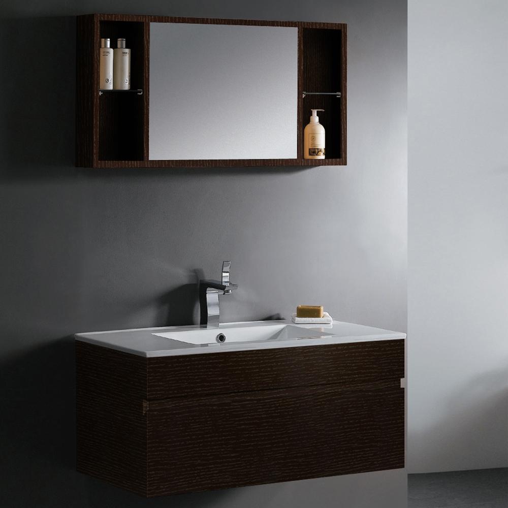 Vigo 35 Single Bathroom Vanity With Mirror And Shelves